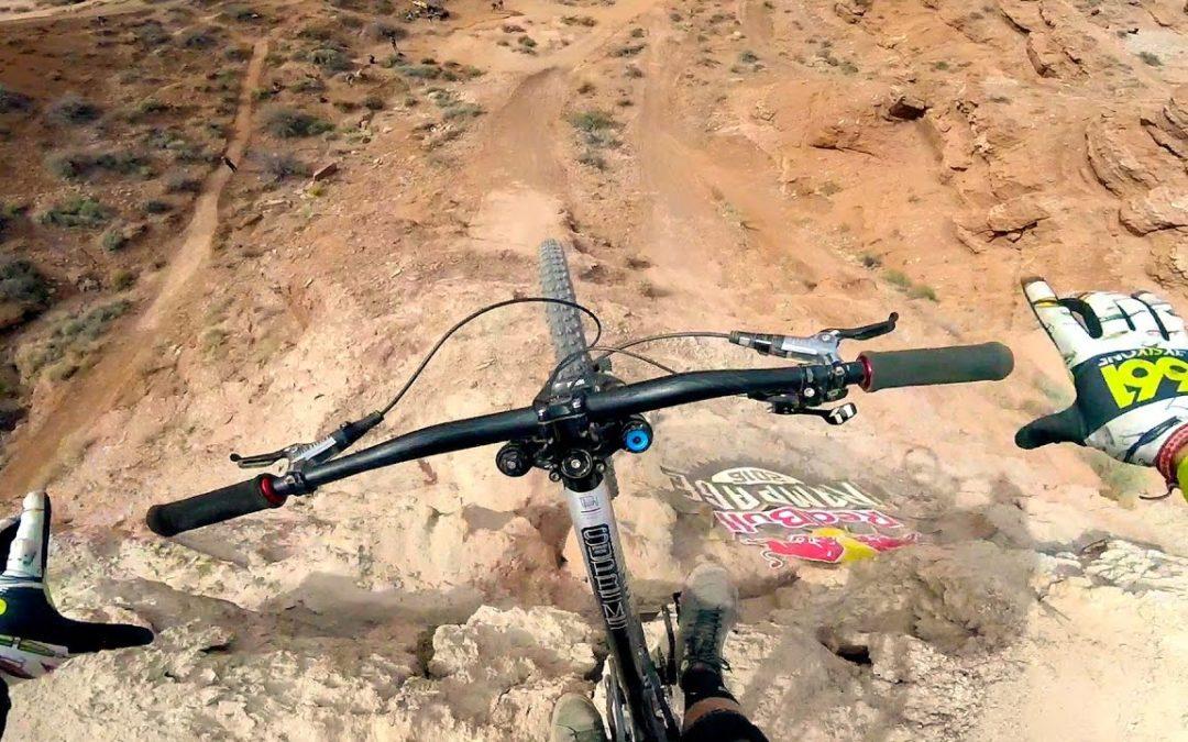 Watch Freeride Mountain Bikers Tackle the Cliffs of Virgin Utah