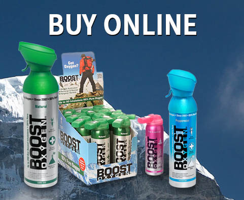 Boost Oxygen - 95% Pure Aviator's Breathing Oxygen in a Can