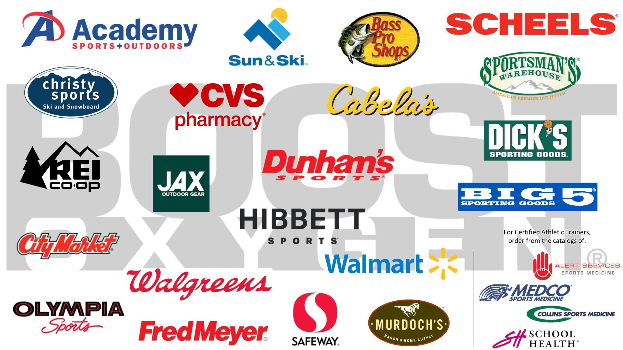 Boost Oxygen Retailers